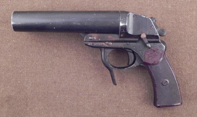 RARE NAZI LUFTWAFFE DOUBLE BARREL FLARE PISTOL 1943