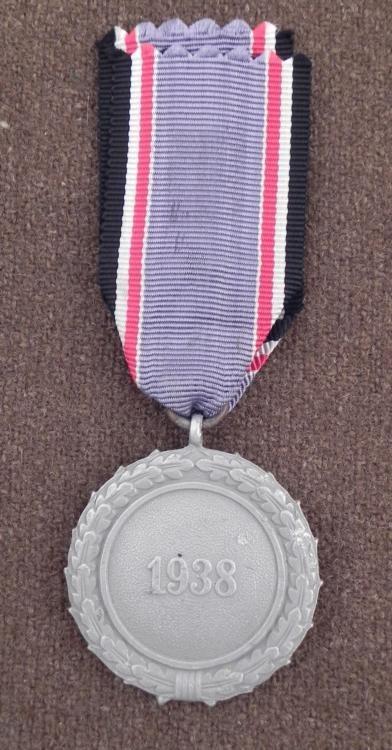 NAZI LUFTSCHUTZ AWARD MEDAL & RIBBON -ORIG 1938 - 2
