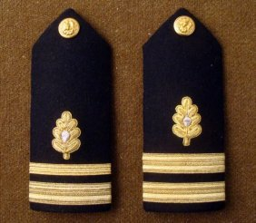 TWO U.S. NAVY MEDICAL CORPS COMMANDER SHOULDER BOARDS