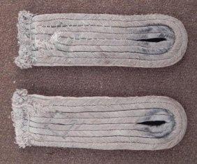 NAZI WEHRMACHT INFANTRY SHOULDER BOARDS SEWN ORIGINAL