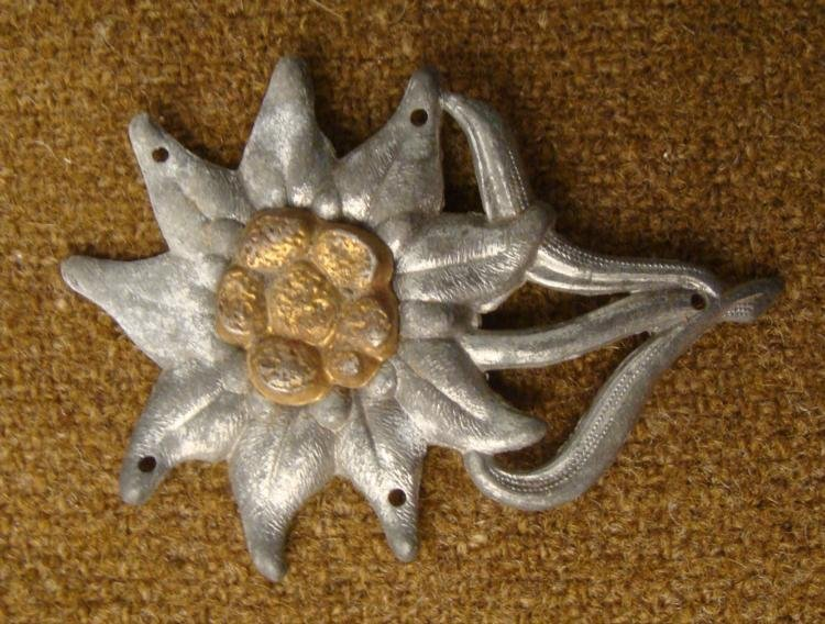 ORIGINAL SS MOUNTAIN TROOPS CAP EDELWEISS INSIGNIA