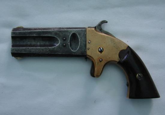 AMERICAN ARMS CO. BOSTON MASS 1865 DOUBLE BARRELL PISTO