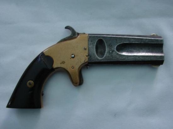 AMERICAN ARMS CO. BOSTON MASS 1865 DOUBLE BARRELL PISTO - 2
