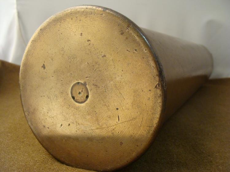 """20"""" GERMAN WWI BRASS ARTILLERY SHELL RARE 1917 - 2"""