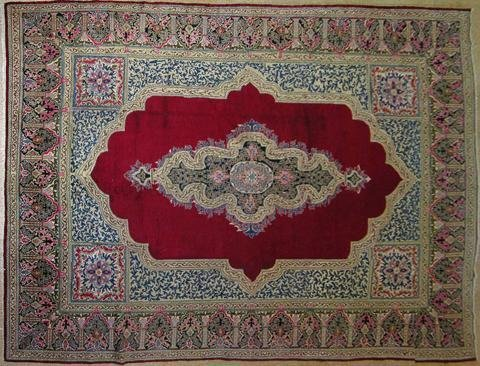 9~ X 13~ LAVAR RUG (100 YEARS OLD);