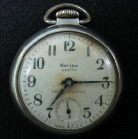 WESTCLOX SCOTTY POCKET WATCH  One Of Several Extremel