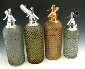 METAL COVERED SELTZER BOTTLES