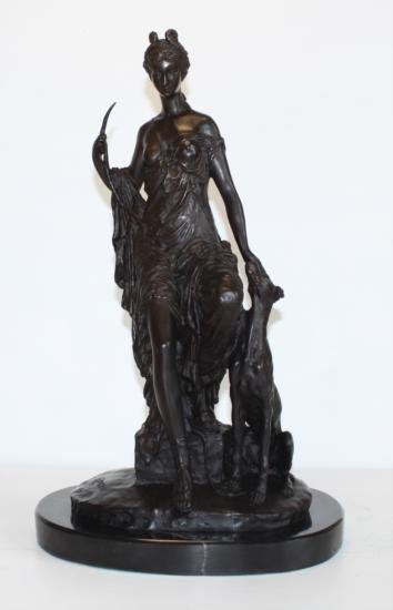 Lovely Bronze Sculpture Victorian Royal Lady and
