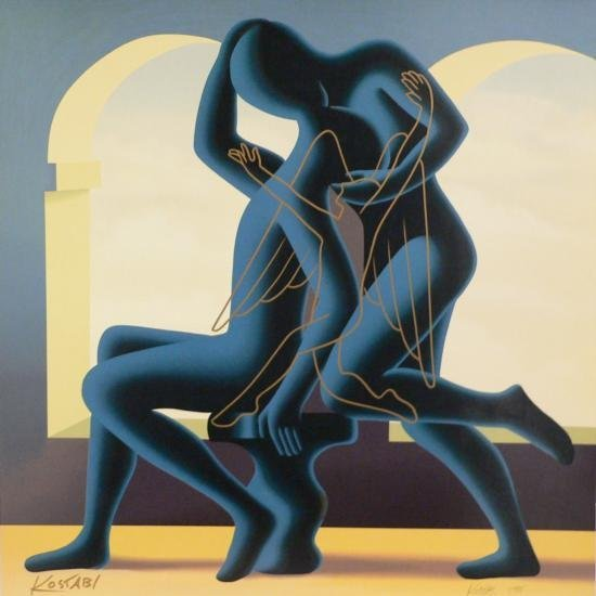 The Golden Kiss by Kostabi 33x33 S/N