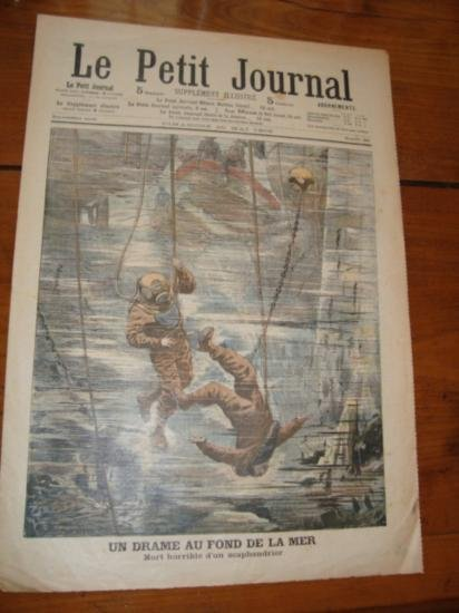 Origimal French newspaper Le Petit Journal dated 1906