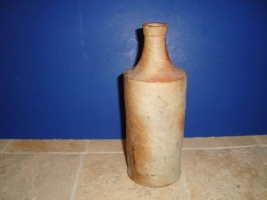 Antique French walnut oil jar circa 1780