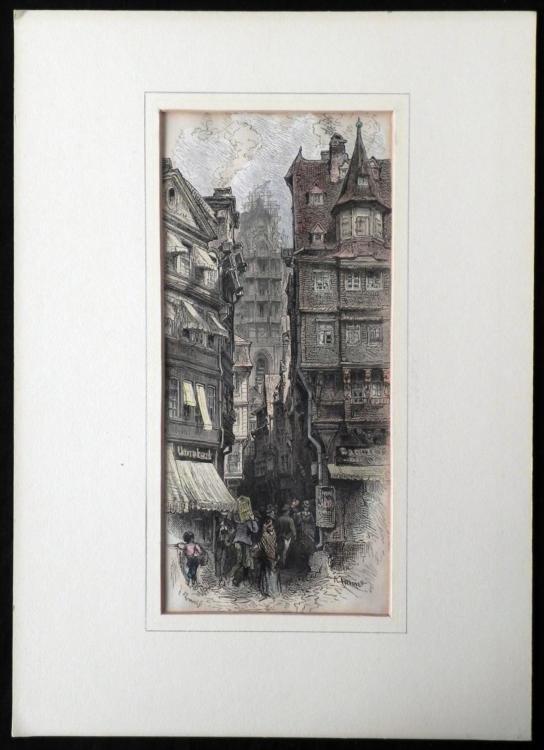 Antique Art Print Germany F. Zenneck R. Kittner