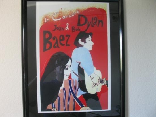 Joan Baez/Bob Dylan Vintage Reproduction Concert Poster