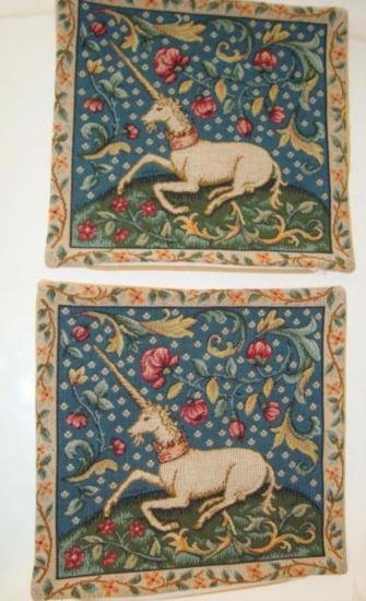 Pair of cushion pillow covers French Company J. Pansu