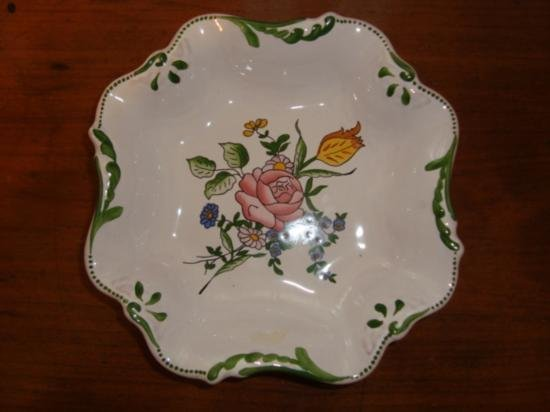 French dish drageoir signed by artist Renoleau