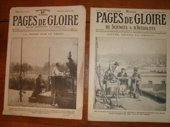 Set 2 Authentic French newspapers WWI 1915 & 1916