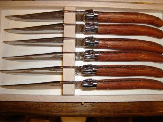 Set 6 authentic French Laguiole steak knives bubingawoo