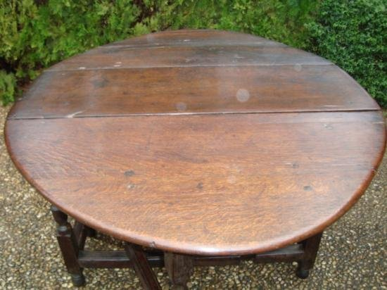 Antique Drop leaf table from Europe circa 1800 - 4