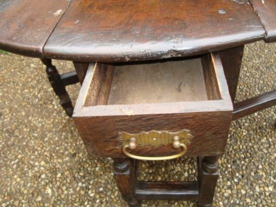 Antique Drop leaf table from Europe circa 1800 - 5