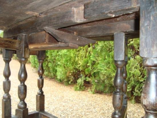 Antique Drop leaf table from Europe circa 1800 - 6