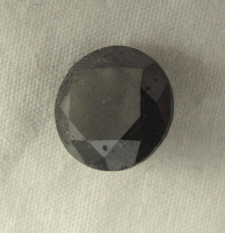 1.71 Carat Loose Black Round Diamond