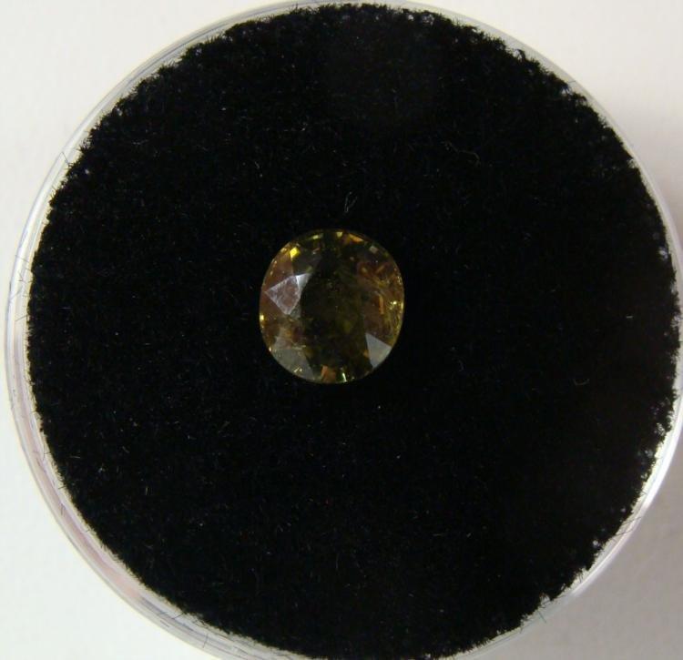 1.30 Carat Yellowish Green Garnet Gemstone