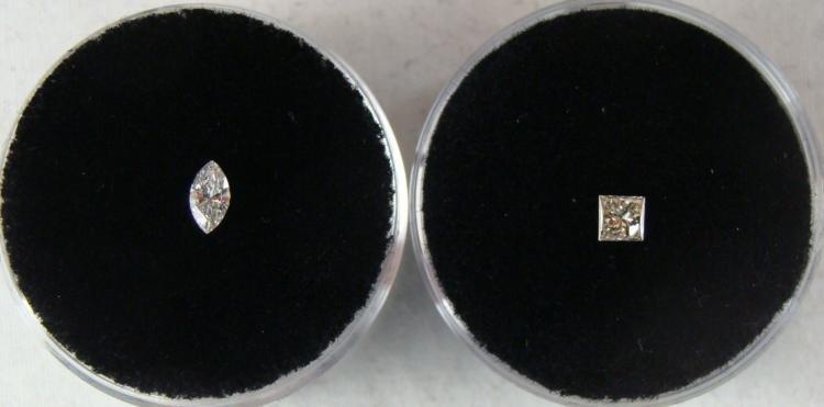 .19 and .13 Carat White Diamond