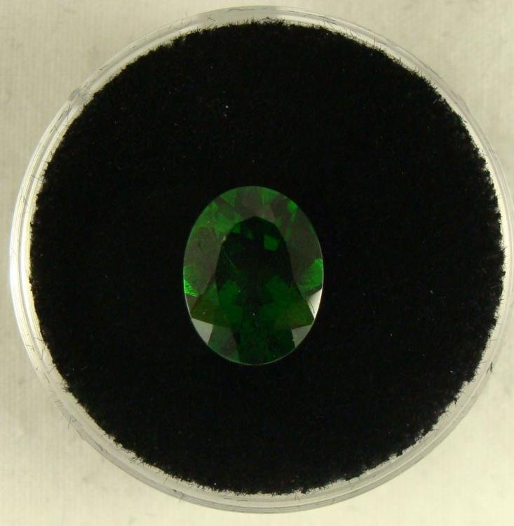 2.61 CT CHROME DIOPSIDE GREEN OVAL GEMSTONE