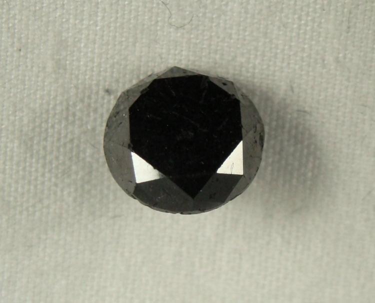 2.61 Carat Loose Black  Diamond Opaque-A! Clarity