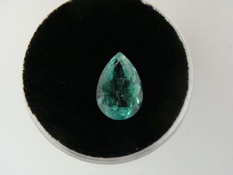 1.90 Carat Emerald Bright Glowing Green Gemstone