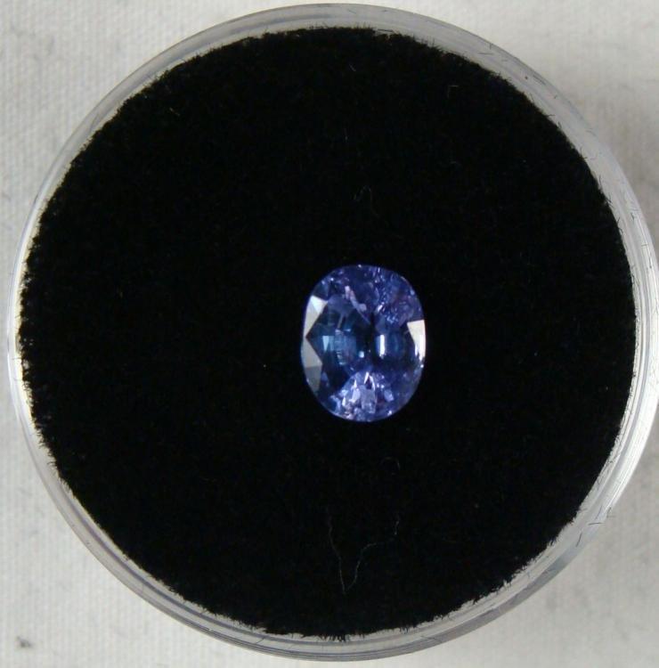 1.10 CT TANZANITE BLUE OVAL GEMSTONE
