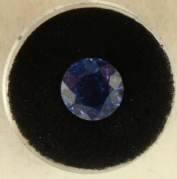 3.77 CT TANZANITE BLUE ROUND GEMSTONE