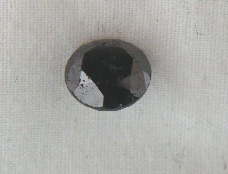 2.28 Carat Loose Black Diamond Opaque-A! Clarity