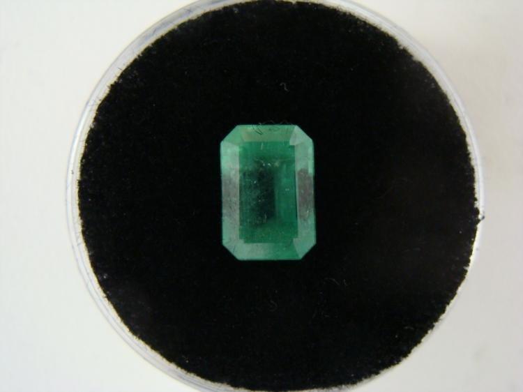 Bright Glowing Green 2.00 Carat Emerald Gemstone