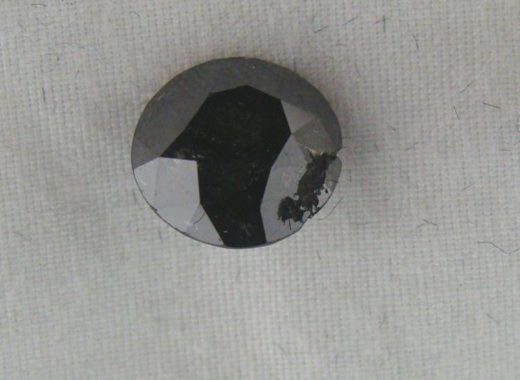 2.72 Carat Loose Black Diamond Opaque-A! Clarity