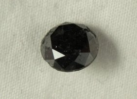 2.78 Carat Loose Black Diamond Opaque-A! Clarity