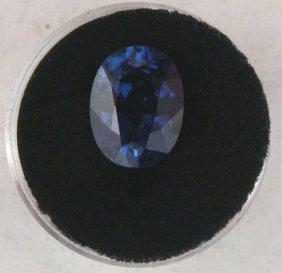 7.65 Carat Blue IF Clarity Sapphire Gemstone