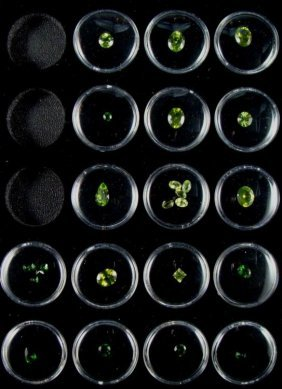 13 GEMSTONES GREEN CHROME DIOPSIDE & PERIDOT