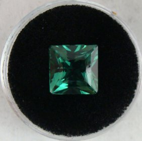 4.19 CT TSAVORITE BOTTLE GREEN SQUARE CUT GEMSTONE