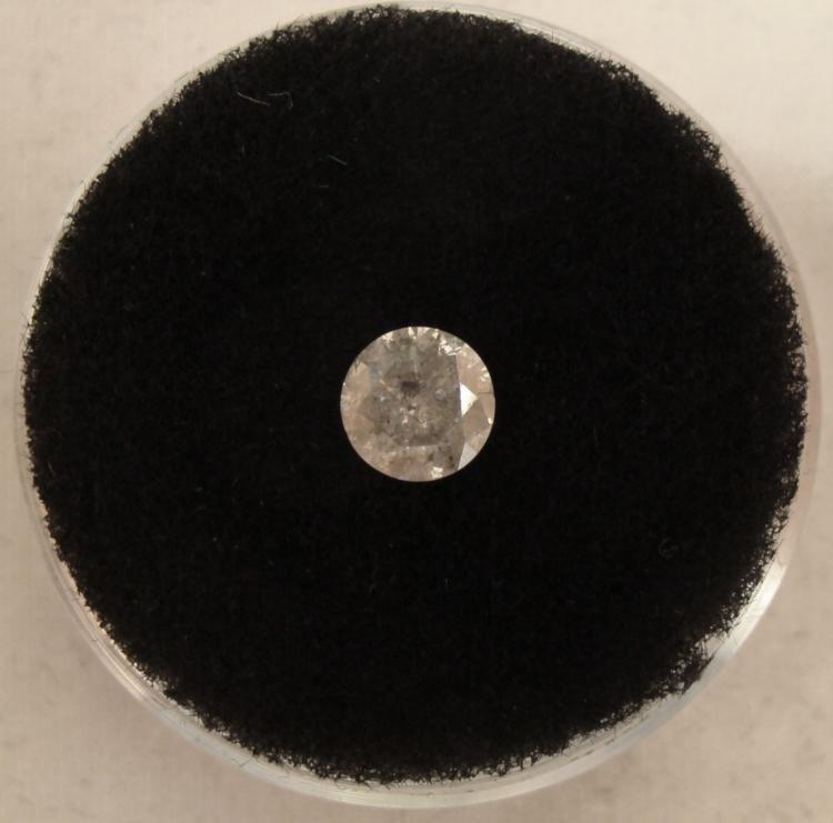 .65 Carat White Diamond Grade I I-2 Clarity