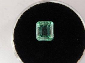 1.28 Carat Bright Glowing Green Emerald Gemstone