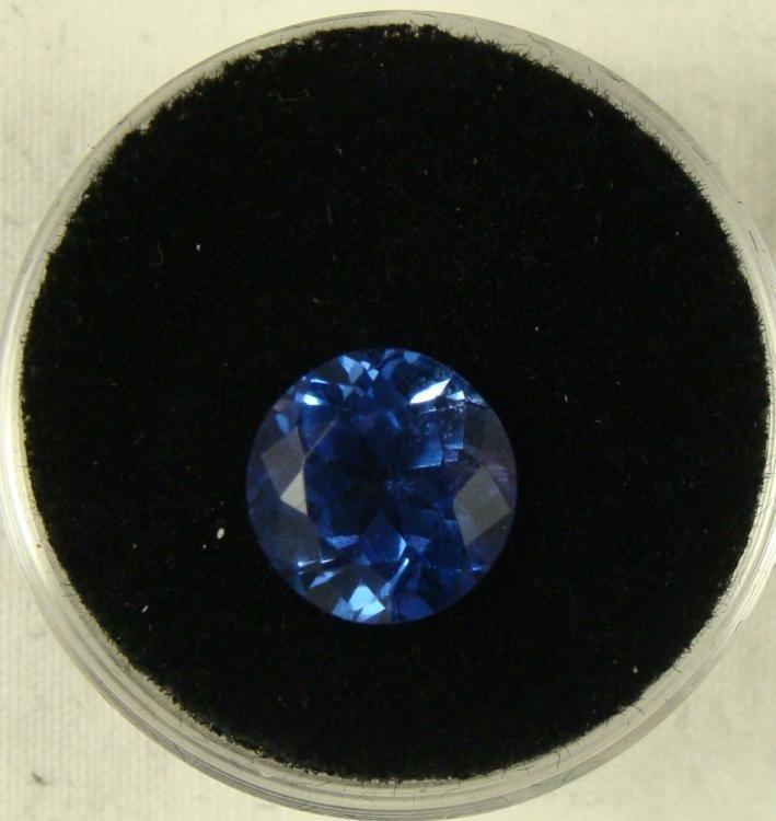 3.30 CT TANZANITE BLUE ROUND GEMSTONE