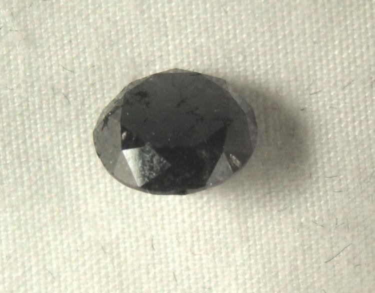 2.42 Carat Loose Black Diamond Opaque-A! Clarity