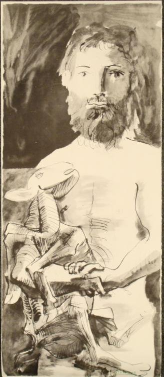 Pablo Picasso : Man with Goat Art Print