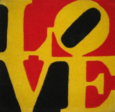 Robert Indiana LOVE Serigraph Decorative Carpet 1
