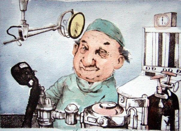 Charles Bragg Signed Medical Art Print Anesthesiologist