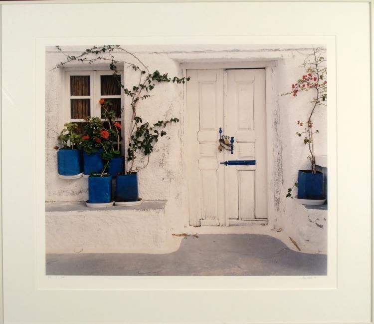 Ven Clery Signed Art Photo Village Door Photograph Frmd