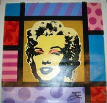 Jozza Original Painting On Canvas Marilyn Monroe