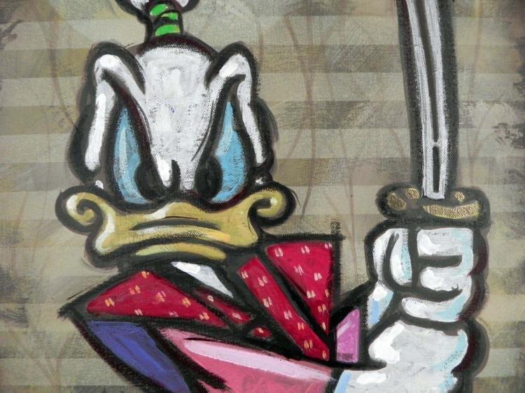 Dick Duerrstein Original Painting Donald Duck Samurai - 2