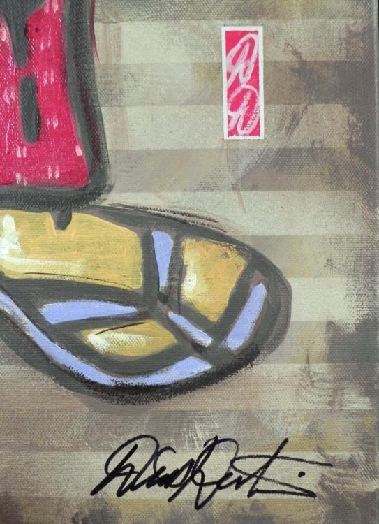 Dick Duerrstein Original Painting Donald Duck Samurai - 3